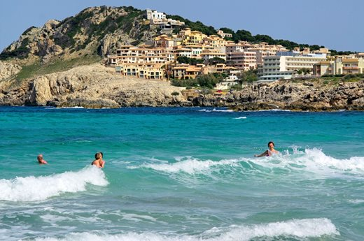 Cala Agulla is located in the northeastern corner of Mallorca